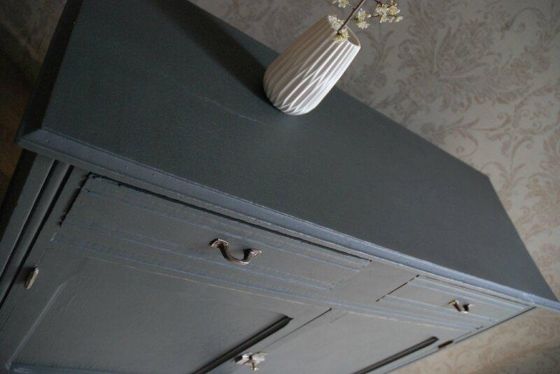 Buffet Parisien Gris Charbon Vendu Atelier Vintage