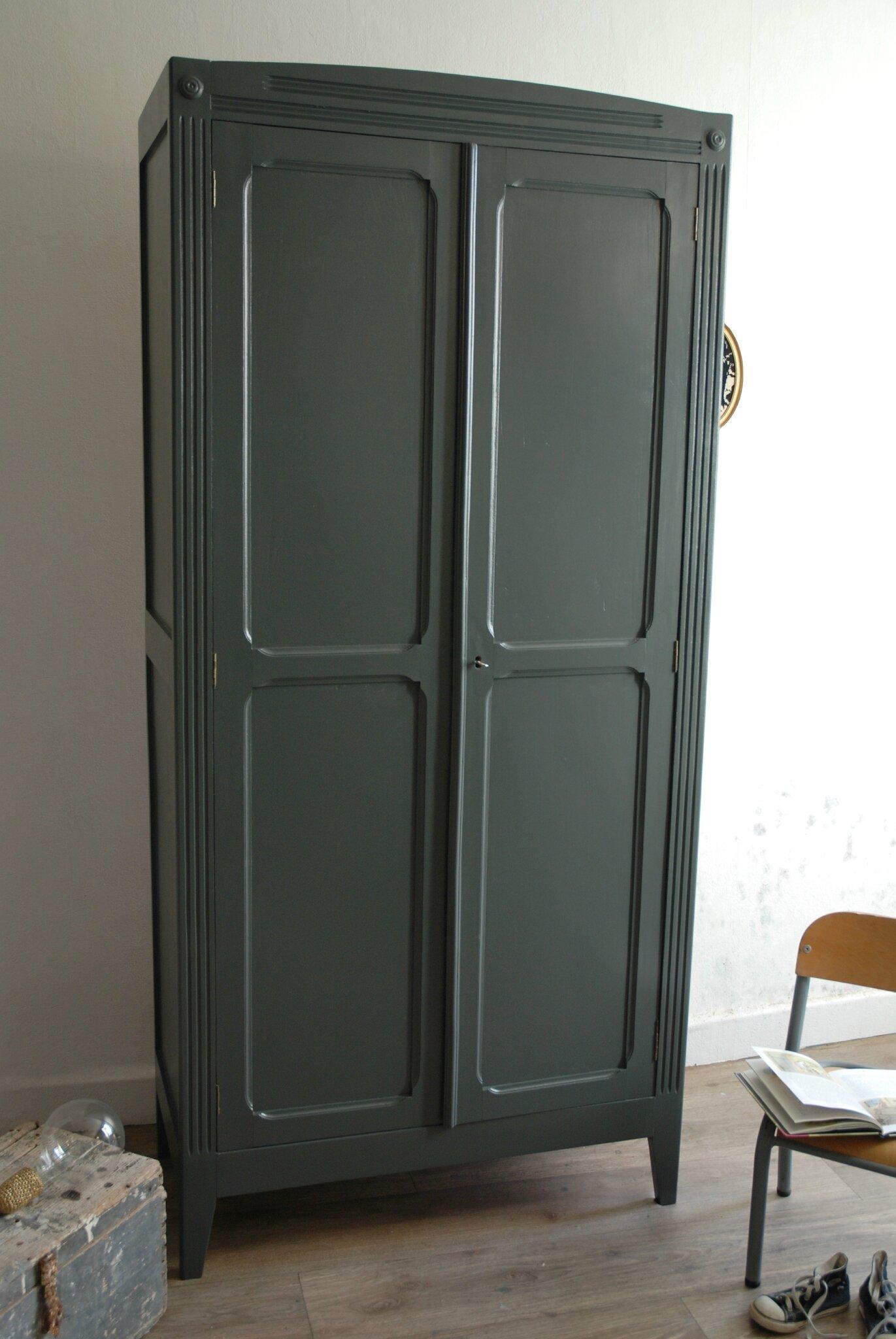 Armoire Parisienne Gris Ardoise Vendue Atelier Vintage
