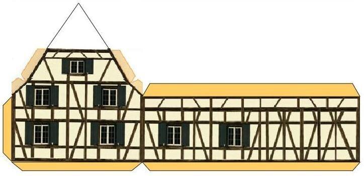Maquette maison cochre  Les gourmandises de Josiane