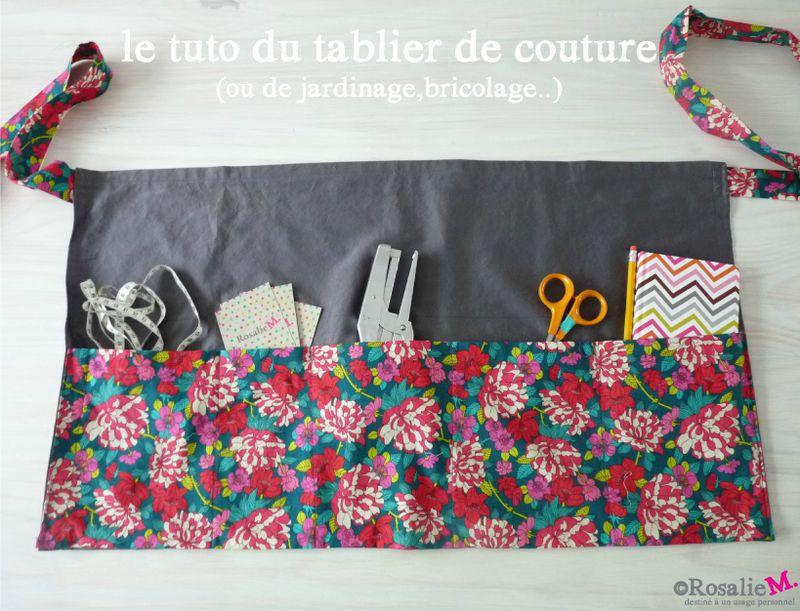Tuto Du Tablier De Couture Ou De Jardinagede Bricolage