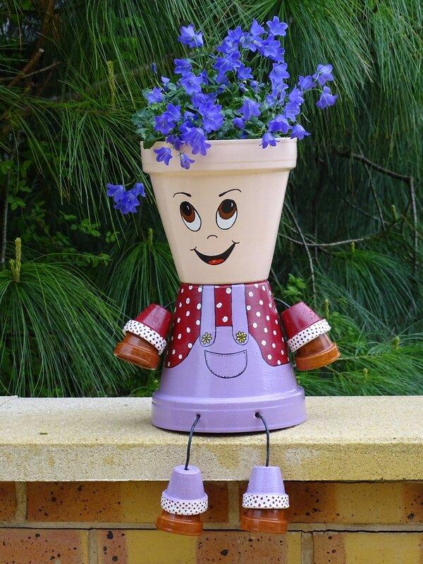 Fabriquer Des Personnages Avec Des Pots De Fleurs : fabriquer, personnages, fleurs, Personnages, Terre...TUTO, Orangé, Sylvie