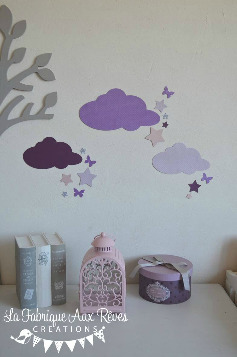 18  Stickers nuages lunes et toiles  Album photos  Gigoteuse et tour de lit bb