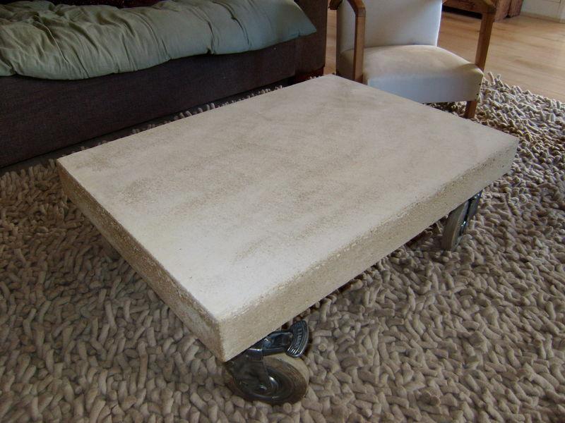 Table basse recette du ciment et autres msaventures  La petite maison au fond de limpasse