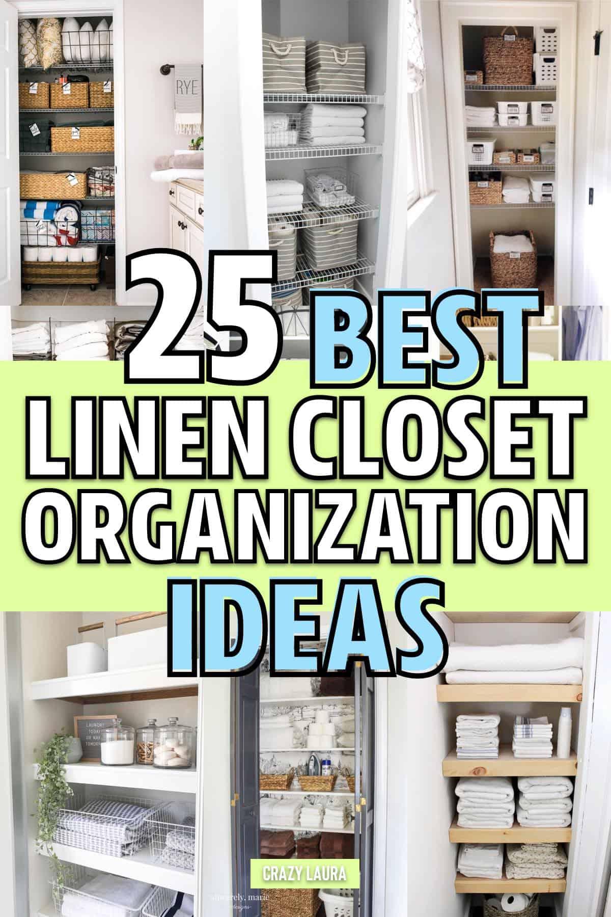 Best Linen Closet Organization Ideas For 2019 Crazy Laura