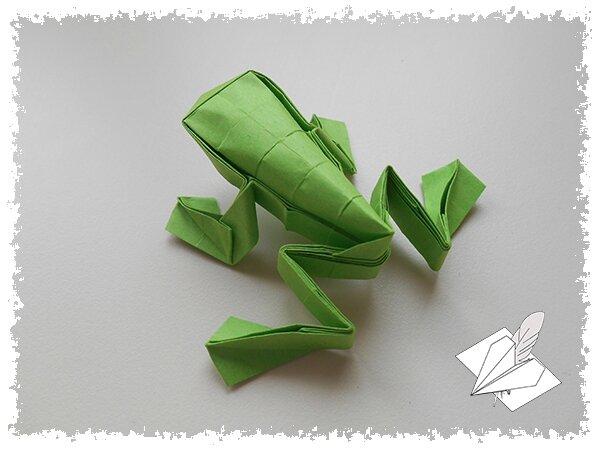 Grenouille Sauteuse Les Origamis De Mathieu