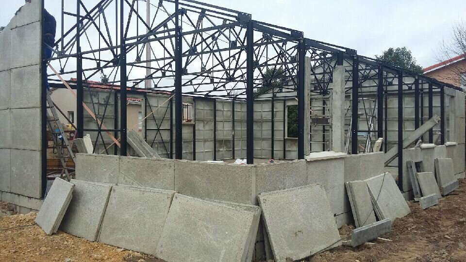 murs termines construction de notre