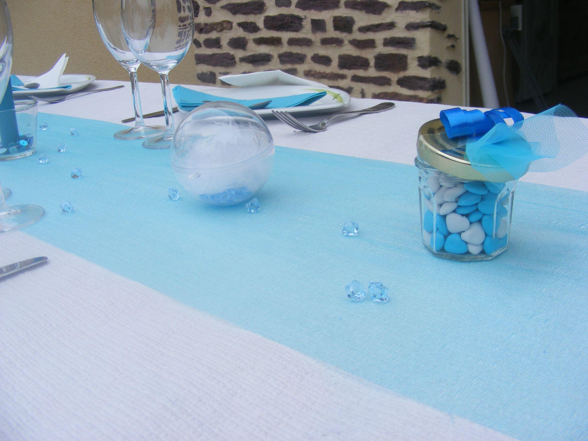 Sweet Table Bleu  Blanc  la ralisation finale  Les Chouettes Moments de Julie