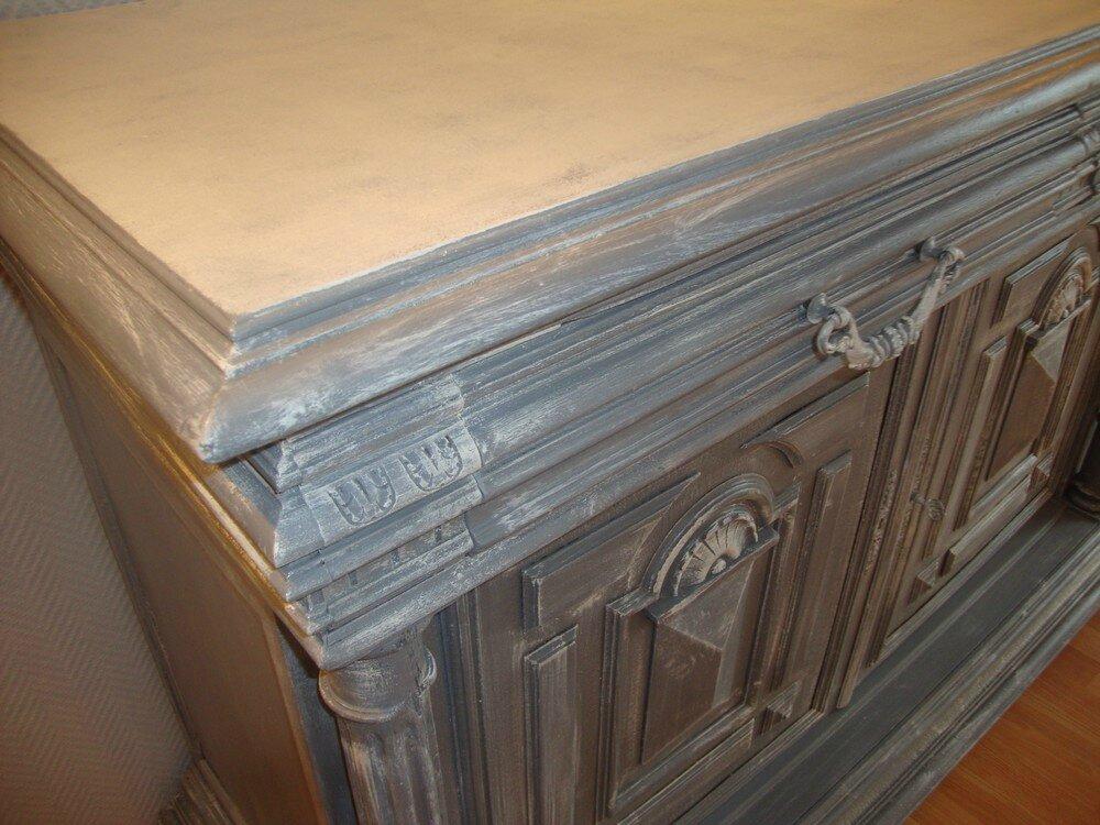Buffet Henri II patin gris et zinc  Krative Dco