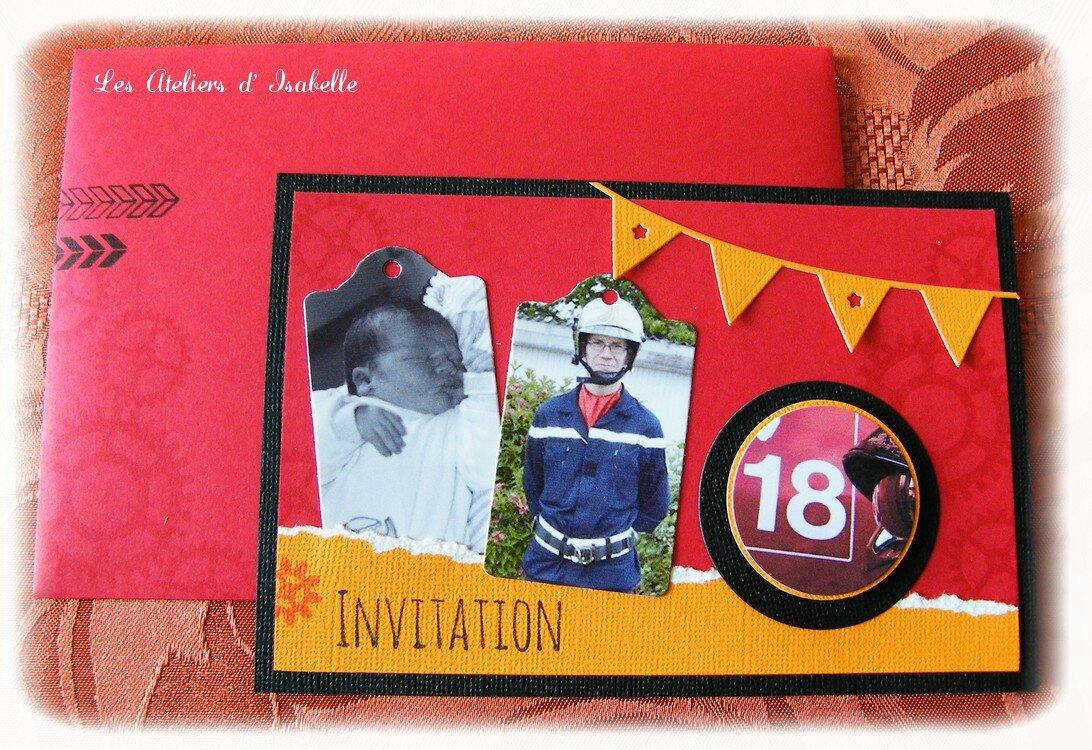 invitations anniversaire 18 ans theme