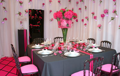 THEME ROSE ET GRIS  Le salon de th  le blog dun Lys dans latelier