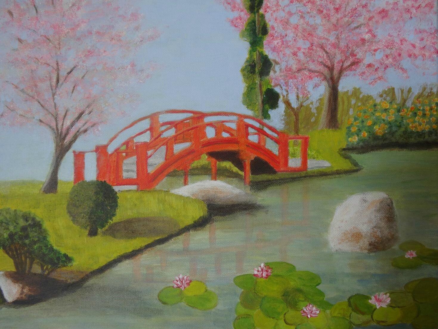 jardin japonais dessins peintures et