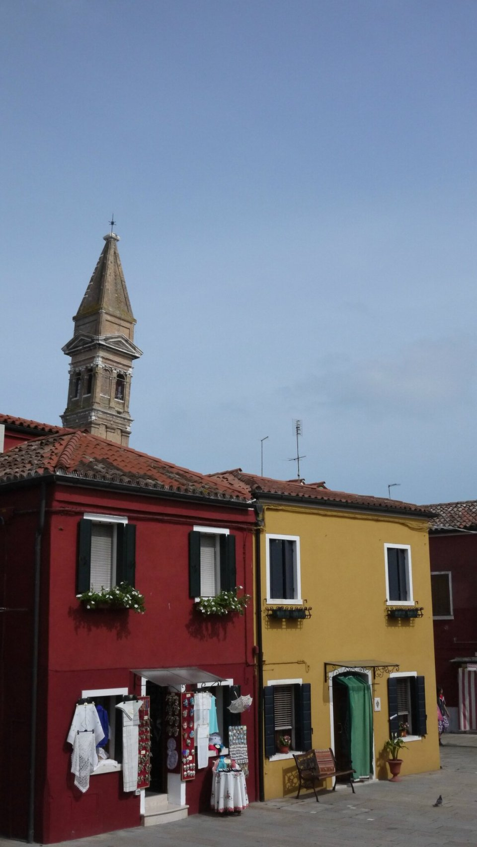 Le campanile sur l'île de Burano