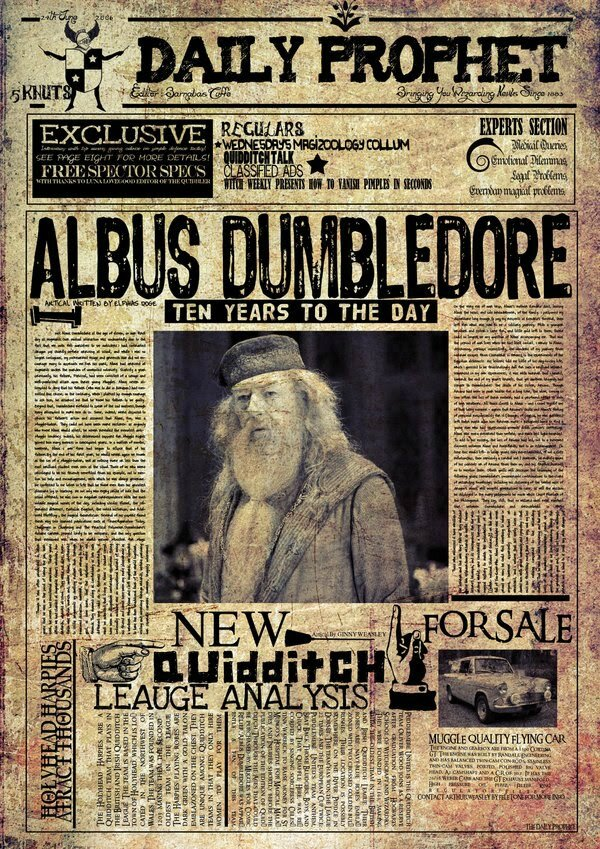 Gazette du Sorcier  Crations dObjets Harry Potter