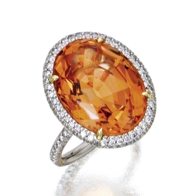 Catseye chrysoberyl Orange Topaz  Fire Opal Diamond Rings  Sothebys Magnificent Jewels