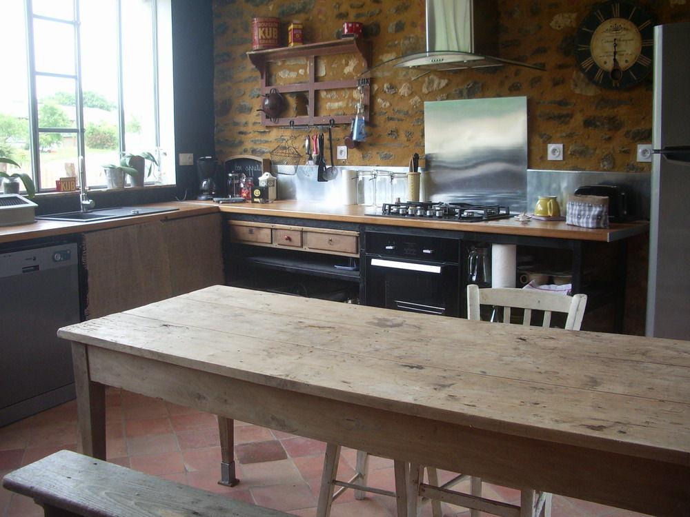 banc de cuisine en bois