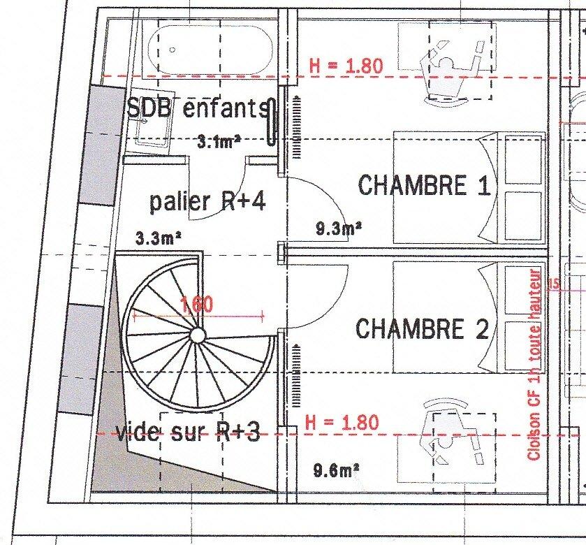 DESCRIPTIF APPARTEMENT R3R4 Duplex POINCARE  APPARTEMENT POINCARE R3