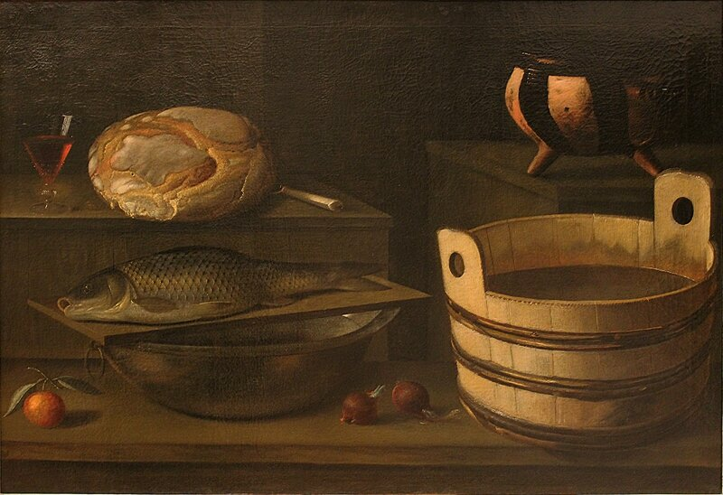 Miche et baquet , - hst , 78 x 115cm - Musée des Beaux-Arts de Lyon