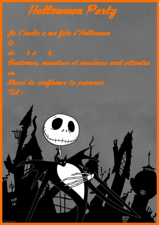 invitation halloween jack skellington