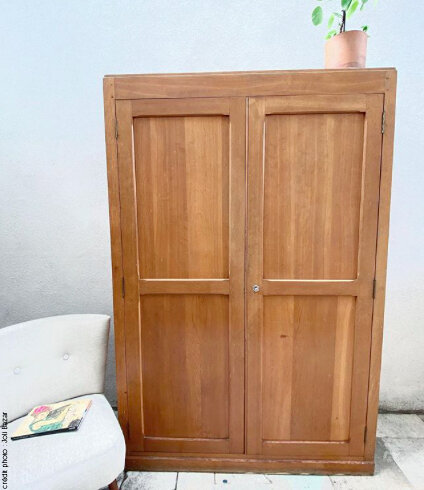 armoire parisienne en bois brut