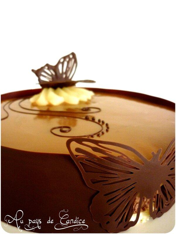 Bavarois Chocolat Poires Caramel Au Beurre Sal Au