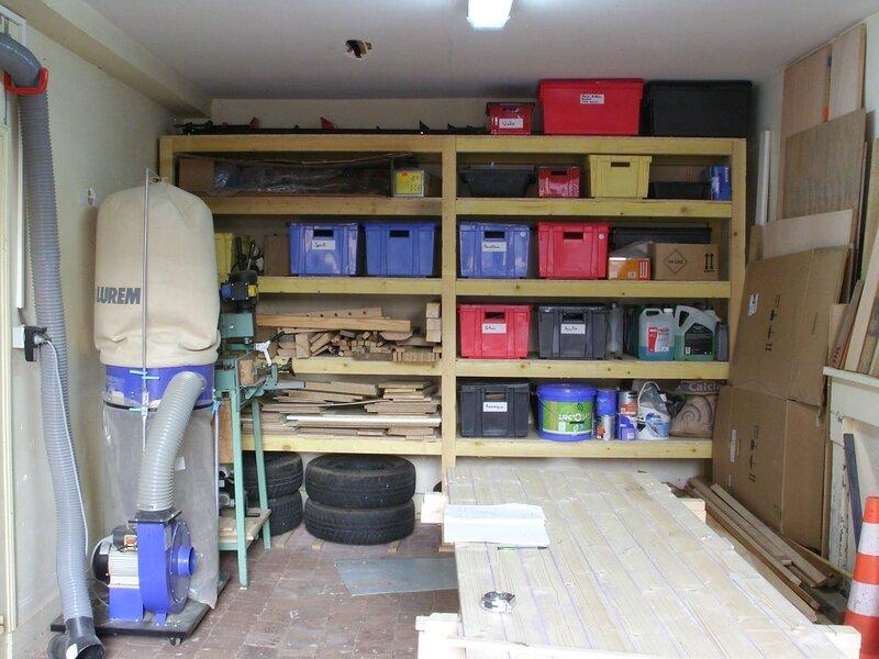 etagere sur mesures pour le garage 1 1