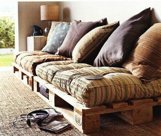 meubles tendance en palettes de bois