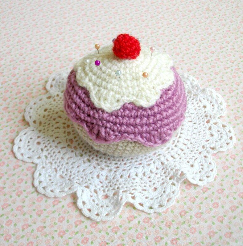 cupcake, crochet, fait main, pièce unique, cousu main, m6