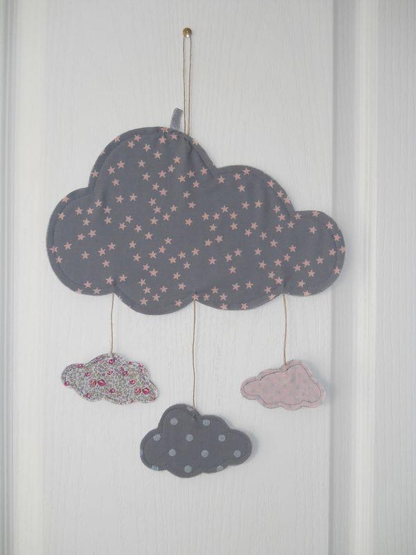 Duo guirlande prnom et mobile nuage  Bb Coton  boutique en ligne