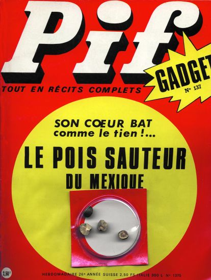 Couverture de Pif Gadget numéro 137 avec le pois sauteur du mexique