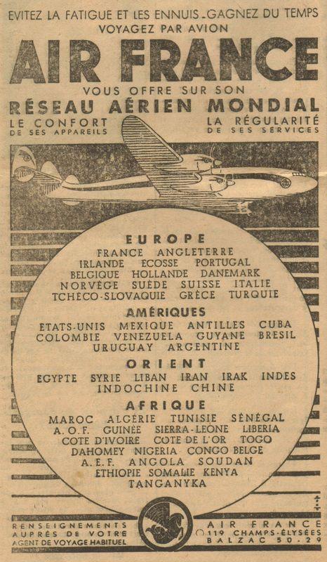 PUBLICITE 1947  PUBS ANCIENNES