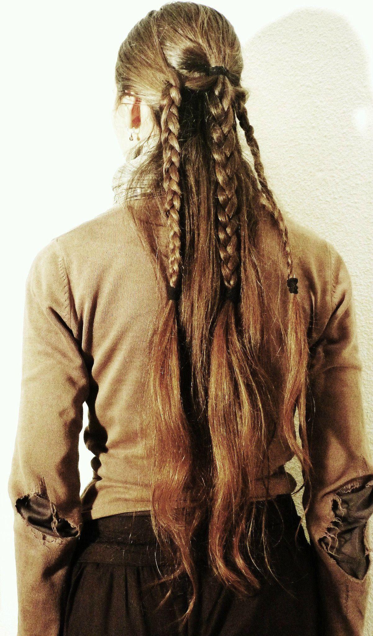 Bracelets en argent pour homme: Coiffure Inspiration Tolkien Trois Tresses La Chevelue