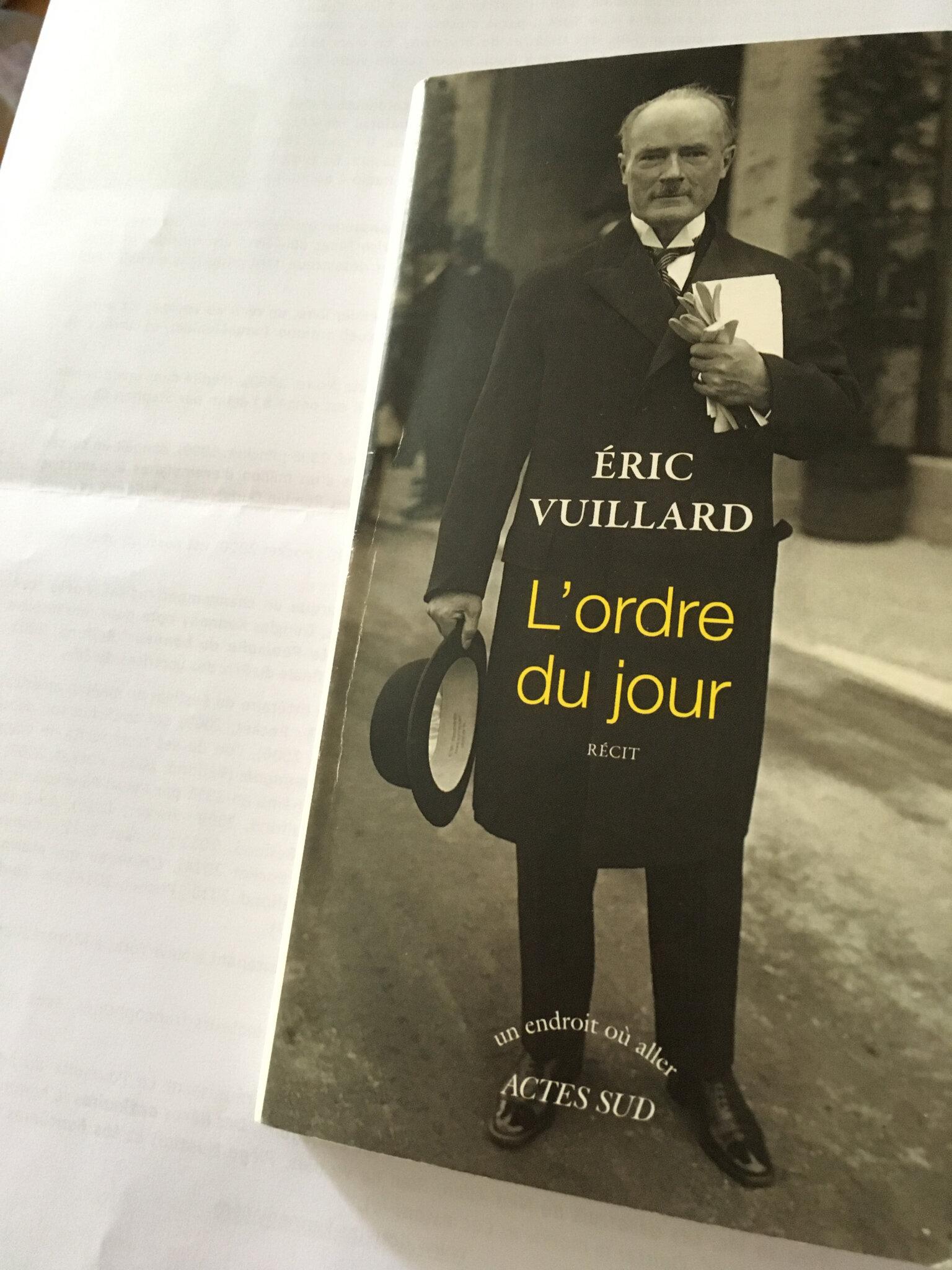 L'ordre Du Jour Eric Vuillard : l'ordre, vuillard, L'ordre, Vuillard, Maison, Livres