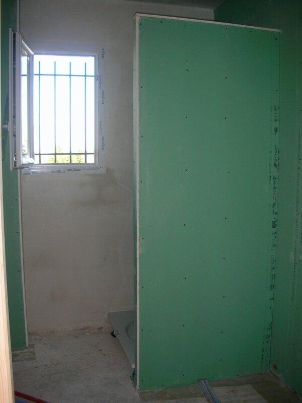 cloison douche haut  Photo de Le second oeuvre  Vers une nouvelle maison