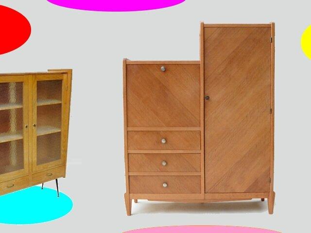 armoire secretaire vintage annees 50 vendu