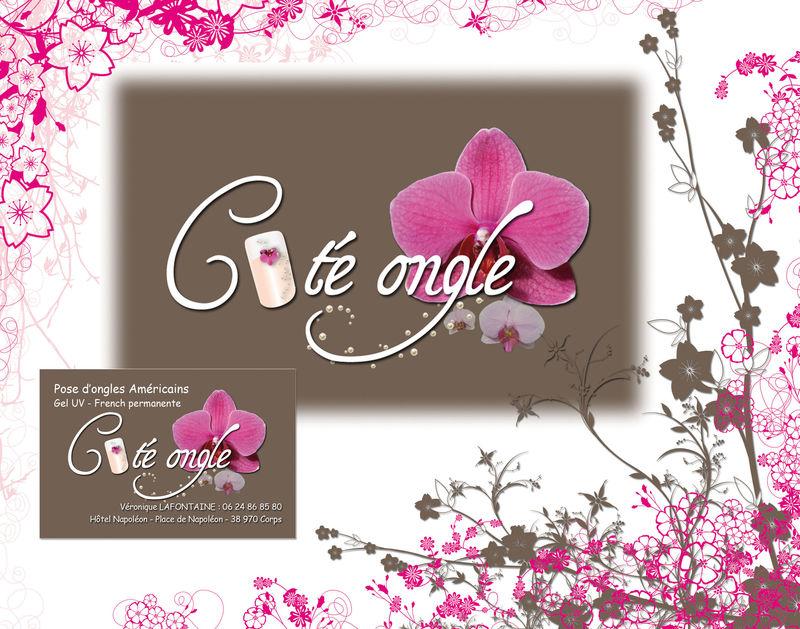 Ct Ongle  logo et carte de visite  Un ptit coin chez Sophie