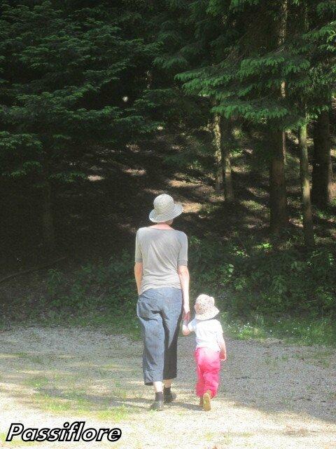 Un Enfant Par La Main : enfant, Prendre, Enfant(un, Ancien), Passiflore