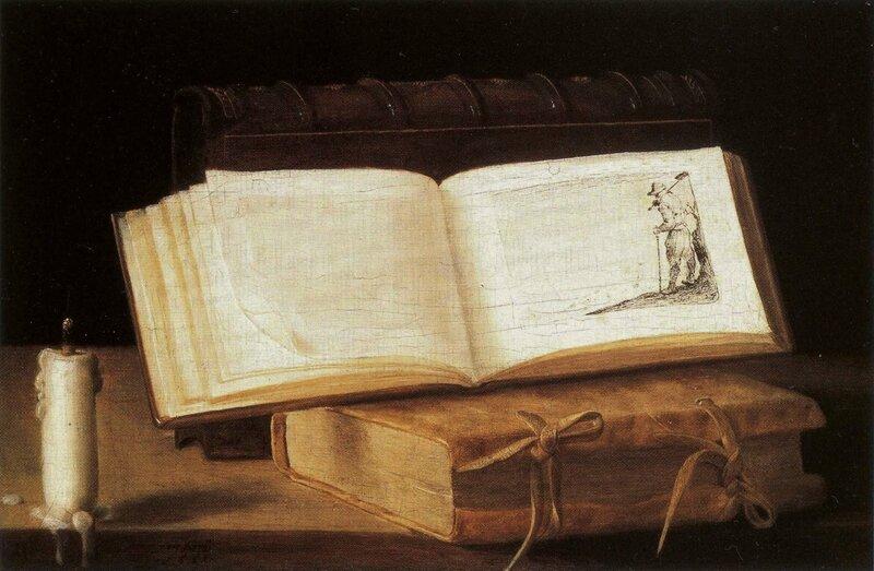Livre et chandelle , hs bois , 20,5 x 35,1cm - Musée Boymans-van-Beuningen, Rotterdam