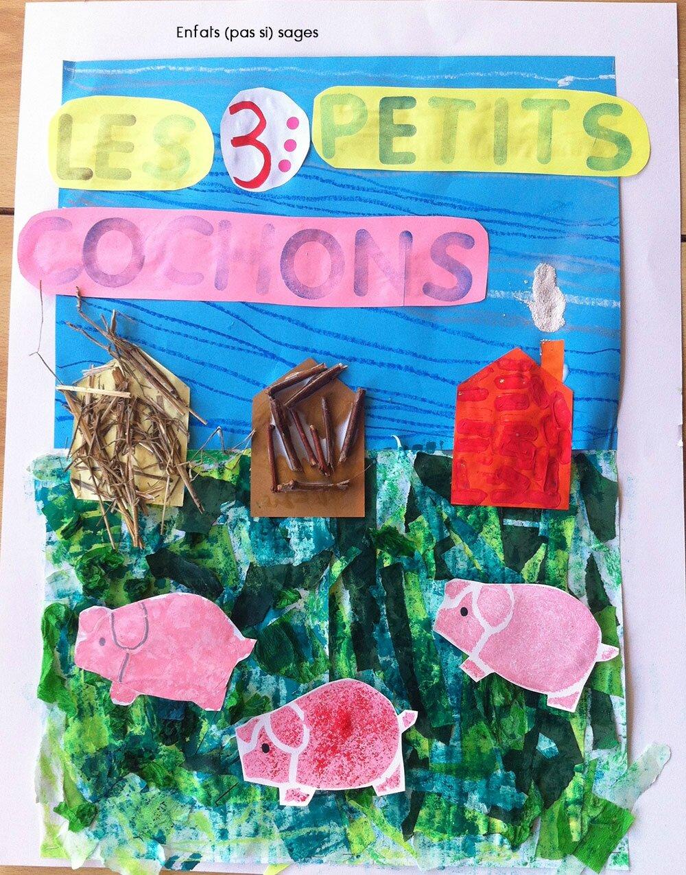 Les Trois Petit Cochons Art Visuel : trois, petit, cochons, visuel, Petits, Cochons, Enfants, Sages