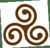triskel brun seul