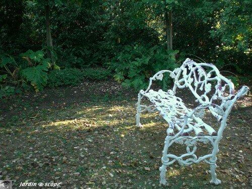 banc blanc en fonte jardin francois