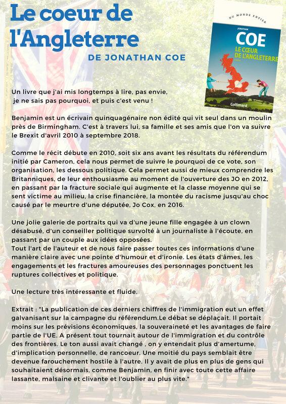 Le Coeur De L'angleterre Jonathan Coe : coeur, l'angleterre, jonathan, Carnet, Fanas, Livres