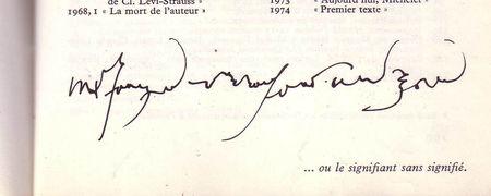 Roland Barthes, Significante sem significado