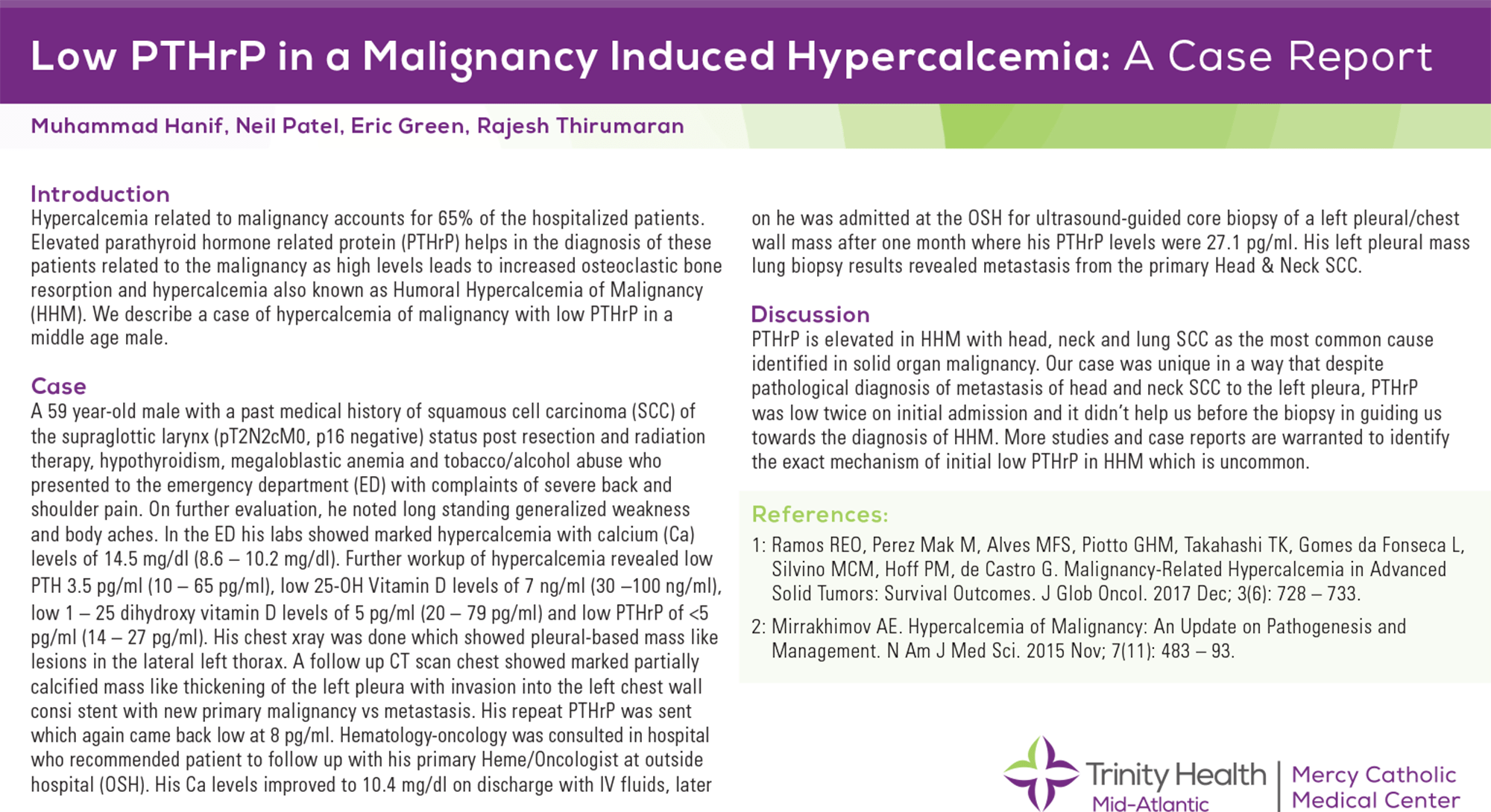 Muhammad Hanif - PAS-139-Low PTHrP in a Malignancy Induced Hypercalcemia A Case Report.PDF