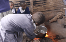 "Njoguini Students Teach Stephen Girard how to Cook Ugali and ""Managu"""