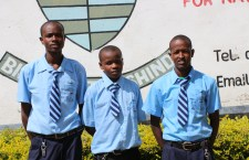 Nicholas, John and Hezron on reporting to Nanyuki High School.