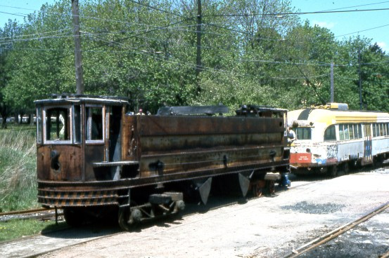 3618 shortly after its arrival from Seashore Trolley Museum in 1974.