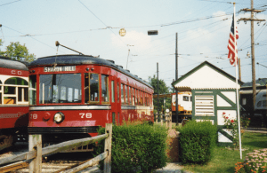 Car 78 at the Museum's Richfol platform in 1992. (Bruce Wells photo)
