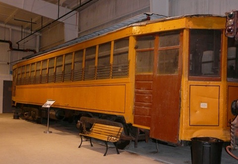 On exhibit in the Trolley Display Building.