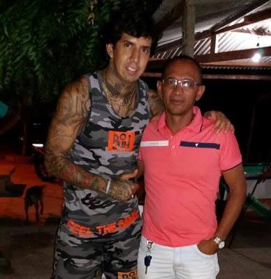 Victor Ramos e o vereador Van de Chico.