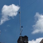 Antenna with wind meter